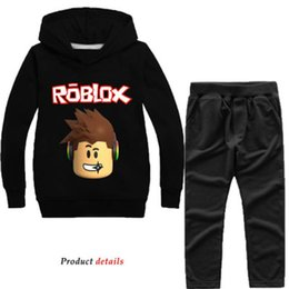 girls hooded tracksuits UK - ROBLOX Outfit Spring Autumn Boys Sweatshirts Children Clothing Set Turtles Tracksuit Girls Coat Kids Hoodies+Pants 2Pcs Suits