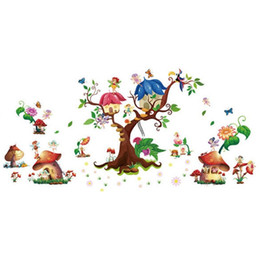 $enCountryForm.capitalKeyWord UK - Children's Room Cartoon Butterfly Elfin Wall Sticker For Kids Rooms bedroom Home Decor Wallpaper Sticker