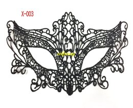 sexy face masks UK - 100pcs lot Black Sexy Lady Lace Cutout Eye Mask For Masquerade Party Fancy Dress Costume Halloween Party Fancy