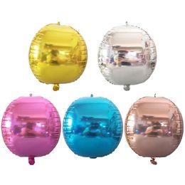 $enCountryForm.capitalKeyWord Canada - 22 inch 4D Aluminium Foil Balloons Round Sphere Aluminum Foil Balloon Kids Toys Birthday Party Decorations Wedding Decor Baby Shower Party