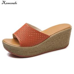 53af3cf5582f Xemonale Women Open Toe Mules Shoes Wedge Shoes Cut Out Flat Platform  Slides Ladies High Heel Slippers Casual Vintage Flip Flops