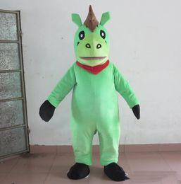 Horse Suit NZ - Discount factory sale green colour horse mascot costume pony mascot suit for adults