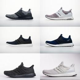 Meilleur Qaulity Ultra 4.0 bottes de sensibilisation au cancer du sein Hommes Femmes Chaussures de course Parley Legend Ink Bleu Tripe Noir Blanc Sneakers Taille 36-45