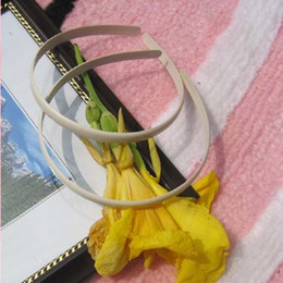 Plastic Hair Band Headband Canada - Wholesale 10mm plastic hair band headband 100pcs lot free shipping