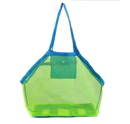 bag child colors Australia - 8 colors Mesh Tote Bags Sand Away Beach Bag for Children Kids Toys Starfish Shell Collect and Storage lin2243