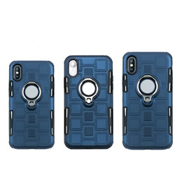 Chinese  Ice Cube Magnetic Kickstand particles Touch Feeling Hybrid car ring case for iPhone Xr Xs max X 7 8 6S Plus Samsung Galaxy S8 S9 plus Note8 manufacturers