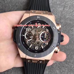41af6efaa450 6 Estilo La Mejor Calidad AB Factory 45mm Esqueleto Bang King Power  Cronógrafo Suizo ETA 7750 HUB1241Unico Movimiento Automático Reloj para  Hombre Relojes