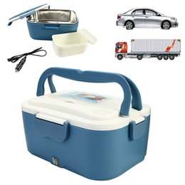 Electric Hot Warmer Australia - Electric Lunch Box Portable 1.5L Car Lunchbox 12V Car 24V Truck Electric Food Warmer Hot Rice Cooker Traveling Meal Heater