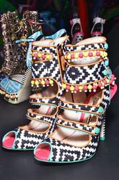 $enCountryForm.capitalKeyWord Canada - 2018 New list european and American fashion retro thread empty catwalk shoes color beads decorated fish head high-heeled nightclub sandals