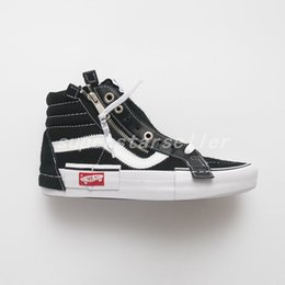 2018 New OFF Vault Sk8-Hi Cap LX Old Skool Deconstructe Casual Canvas Shoes  For Women Men White Skateboard Sneakers Trainer Zapatillas 35-44 eed71fbb82a