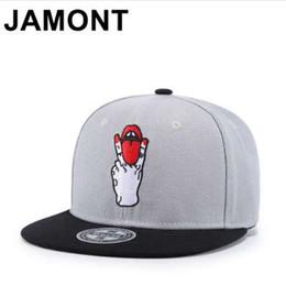 22157bbd10e Personality Tongue Out Embroidery Snapback Cap Rock Punk Stylish Hip Hop  Hats Flat Bill Adjustable Baseball Caps For Men Women