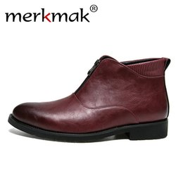 Shoes Search For Flights Men Boots Spring 2019 Leather Short Boot British Style Shoes Flat Heel Work Boot Motorcycle Short Boots Casual Ankle Shoes D50