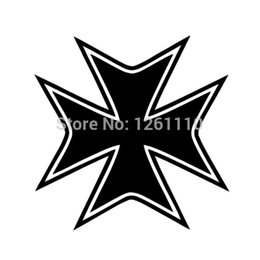 China HotMeiNi Wholesale 20pcs lot 8 Colors IRON CROSS Decal Sticker Cool Reflective Vinyl Decal and Stickers For Your Car Truck Window Bumper cheap cool window stickers for cars suppliers