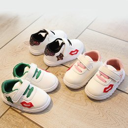 Discount cool lips - New 2018 All season high quality Hook&Loop baby casual shoes rubber unisex cool lip baby sneakers cute girls boys shoes