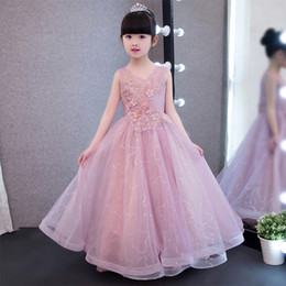 BaBy girl wedding frock online shopping - Glizt Children Kids Prom Gown Designs Little Baby Girl Party Frocks Flower Girl Sequin Tulle Wedding Dress Girl Clothes