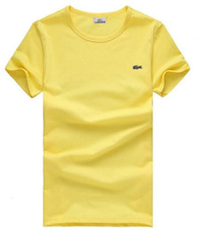 Discount t shirt crocodile - 2018 new High quality cotton crocodile O-neck short sleeve t-shirt brand men T-shirts casual style for sport men T-shirt