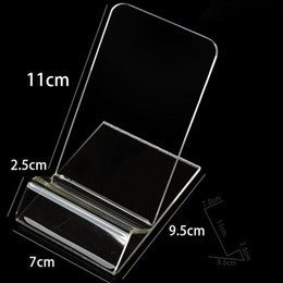 Wholesale Large Size Acrylic cell phone stand holder mobile phone display stand for inch iphone Samsung huawei HTC LG free DHL