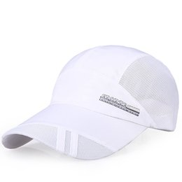 a35d6780a74 Adult Mesh Hat Quick-Dry Collapsible Sun Hat Outdoor Sunscreen Baseball Cap  Solid color fashion daily casual adjustable caps