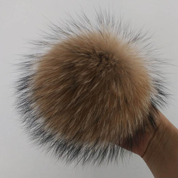 Knitted Hair Hat NZ - Raccoon Hair Ball Knitted Hat Apparel Fur Balls Super Hairy Ball Bag Pendant