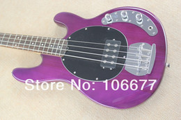 $enCountryForm.capitalKeyWord NZ - Free Shipping !! Hot Sale High Quality Ernie Ball Musicman Music Man Sting Ray 4 Strings Purple Electric Bass Guitar In Stock