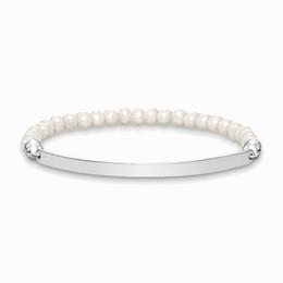 $enCountryForm.capitalKeyWord UK - 6MM Freshwater Pearl Beads Strand Bracelets Silver Fashion Jewelry Accessories for Women Men Gift 2018 Brand New