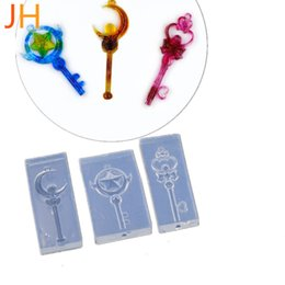 $enCountryForm.capitalKeyWord UK - Diy flip candy silicone mold changing beauty girl moon pentagram crown love magic stick glue mold