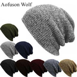 Discount balaclava knitting - Fall And Winter Ski Knit Hat For Women Men Beanie Balaclava Gorro Hip hop Style Snow Snowmobile Motocross Riding Hiking