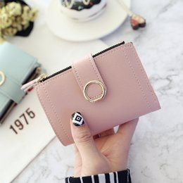 Money clip business card holder online shopping - Women Wallets Small Fashion Brand Leather Purse Women Ladies Card Bag For Women Clutch Female Purse Money Clip Wallets