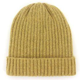 168f13a6d0c Unisex Wool Blend Striped Knit Beanie Hats for Women Men Winter Warm Ski Cap  Grey Navy Khaki Black Fuchsia Blue Dark Yellow Red