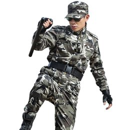 Discount camouflage combat suit - Men's Hunting Outfit Clothes Camouflage Suit Multicam Army Tactical Jackets+pants US Combat CS Uniforms Ghillie Cos
