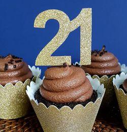 $enCountryForm.capitalKeyWord Australia - custom any number Anniversary Celebration cupcake toppers birthday party decoration doughnut food picks