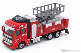 engines toys NZ - Toys 3 Style Fire Alloy Car 001 Models 1:32 Back Power Car Kids Alloy Fire Truck Car Educational Engine Manufacturers Toys QX2211-10