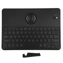 Qi Tablet UK - Bluetooth 3.0 Keyboard with QI Wireless Charging Function 7 Color Backlit Rechargeable Keypad for laptops phone tablet PC