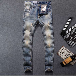 dsel jeans NZ - New Fashion Dsel Designer jeans men Famous Brand Ripped jeans Denim Cotton Jeans Men Casual Pants printed ,708-B