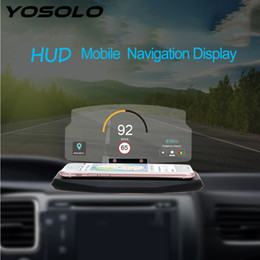 Car Heads Up Display Australia - YOSOLO 6.5 Inch Mobile Phone Holder for iPhone Samsung GPS HUD Head Up Display Car Windscreen Projector Driving Safety