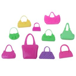 5362c0a764f7 Wholesale Doll Houses Australia - 10pcs Plastic Miniature Toy Bag for Doll  Girls Play House Toy