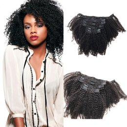 African American Hair Wholesale Australia - Peruvian Virgin Afro Kinky Curly Hair Afro African American Cheap Clip In Hair Extensions Wholesale Cheap LaurieJ Hair