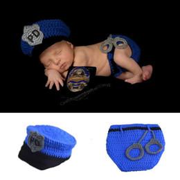 $enCountryForm.capitalKeyWord Australia - Fashion Newborn Cute Baby Photo Props Handmade Knitted Cops Caps Hat and Pant Set Cartoon Infant Phography Shoot Accessory PZ058