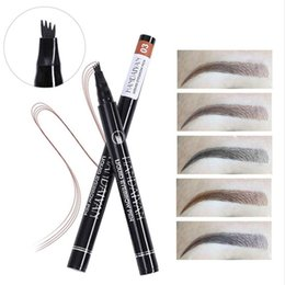 Beauty Essentials Double Head Natural Fog Feeling Automatic Eyebrow Pencil 4 Colors Durable Professional Easy To Color Tattoo Pen Cosmetics