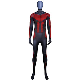 Wholesale ants costumes for sale – halloween Ant Man Costume Custom Made D Printing Superhero Costume Halloween Bodysuit Cosplay Suit and Mask