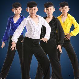 $enCountryForm.capitalKeyWord Canada - dance costumes for boys kids latin dancing shirts dance wear boy ballroom costumes modern pants dancewear tango samba