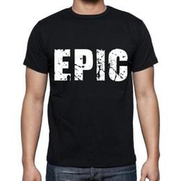Vente en gros T-shirt épique, T-shirt Homme, T-shirt Col Rond Homme, Noir, Cadeau