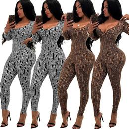 d70634ad39a4 Fashion Women Jumpsuits Two Pieces set back sexy zipper piece pants bodycon  jumpsuit Rompers Catsuits Bodysuits Clothes Ladies Romper 810
