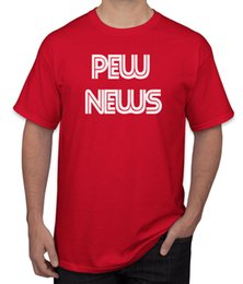 China PEWDIEPIE PEW NEWS T-Shirt Your Weekly Most Up To Date News Report Fancy Dress cheap date shirt suppliers