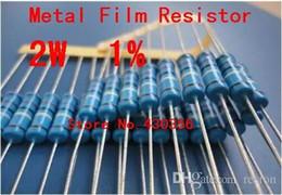 resistor metal film ohm 2019 - Wholesale-20PCS 2W Metal Film Resistor +-1% 2W 1 ohm 1R Free Shipping cheap resistor metal film ohm