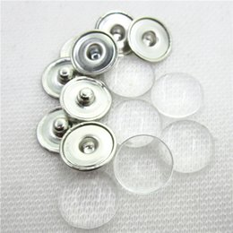 make snap jewelry 2019 - 20sets no design custom jewelry Snap Button Making Brass Snap Buttons with Clear Glass Cabochons, Copper, Clear, Button: