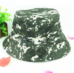 1bf97fcac67 Camouflage Boonie Hunting Fishing Bucket Cotton Hats Men Safari Summer Hat  Cap Hunting hat Women Travel Sun Cap Outdoor Camo Hat wholesale J