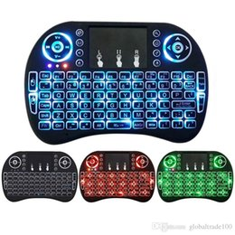 New Fly Air Mouse 2.4G Mini i8 Wireless Keyboard Backlit With Backlight Red Green Blue Remote Controlers For MXQ M8S MiniX