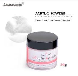 Nail art piNk color online shopping - Clear Nail Sculpture Powder White Nail D Art Design Color Builder Powder Pink Nail Acrylic Powder