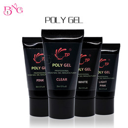 online shopping Transparent Nail Builder UV Poly Gel Nail Tips Extension Glue For Nail Art UV Builder Poly Gel Cover White Manicure Design